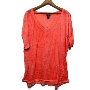 Torrid burnout orange top size 2 ( 2X)